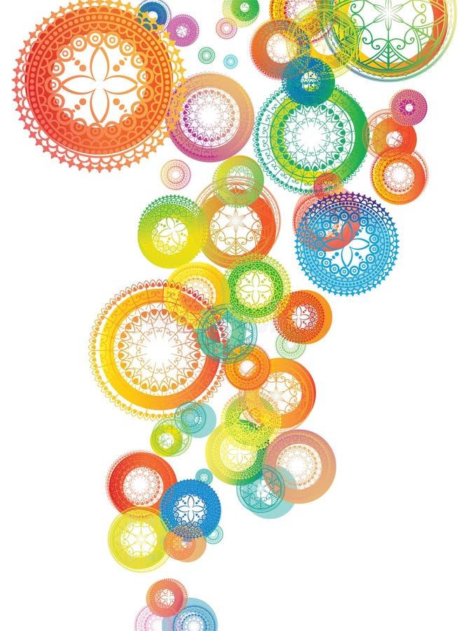 Priorità bassa Colourful della mandala fotografia stock libera da diritti