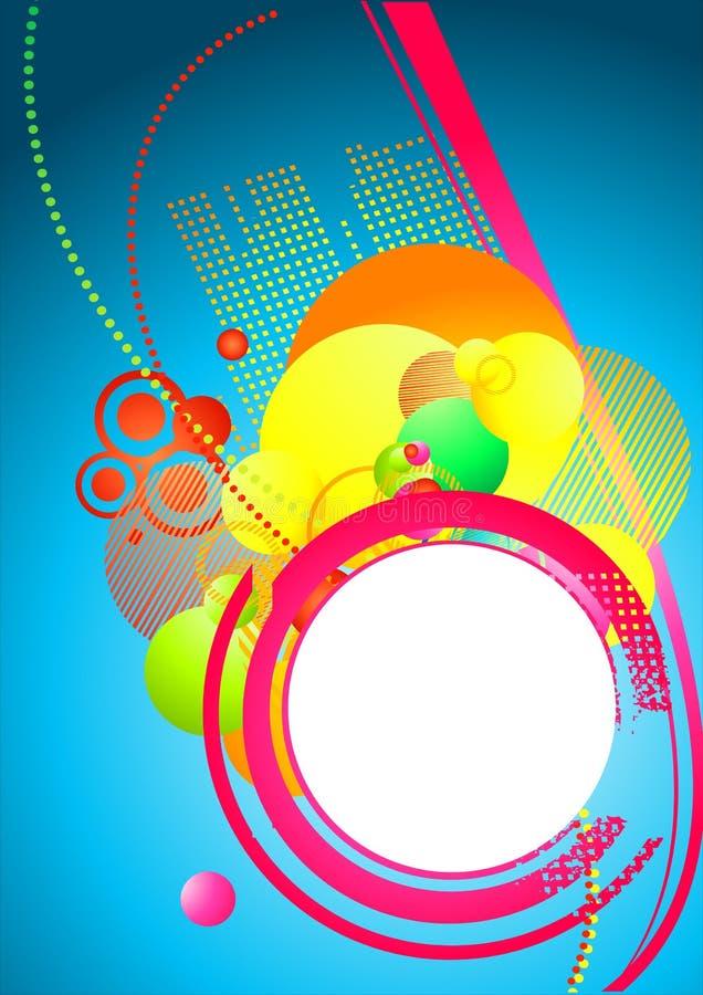 Priorità bassa Colourful Funky illustrazione vettoriale
