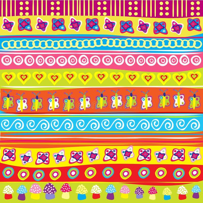 Priorità bassa con gli elementi colorati di doodle illustrazione di stock