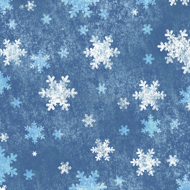 Priorità bassa con i fiocchi di neve illustrazione vettoriale
