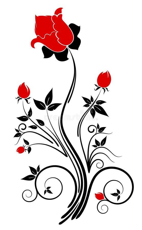 Priorità bassa con i fiori astratti royalty illustrazione gratis