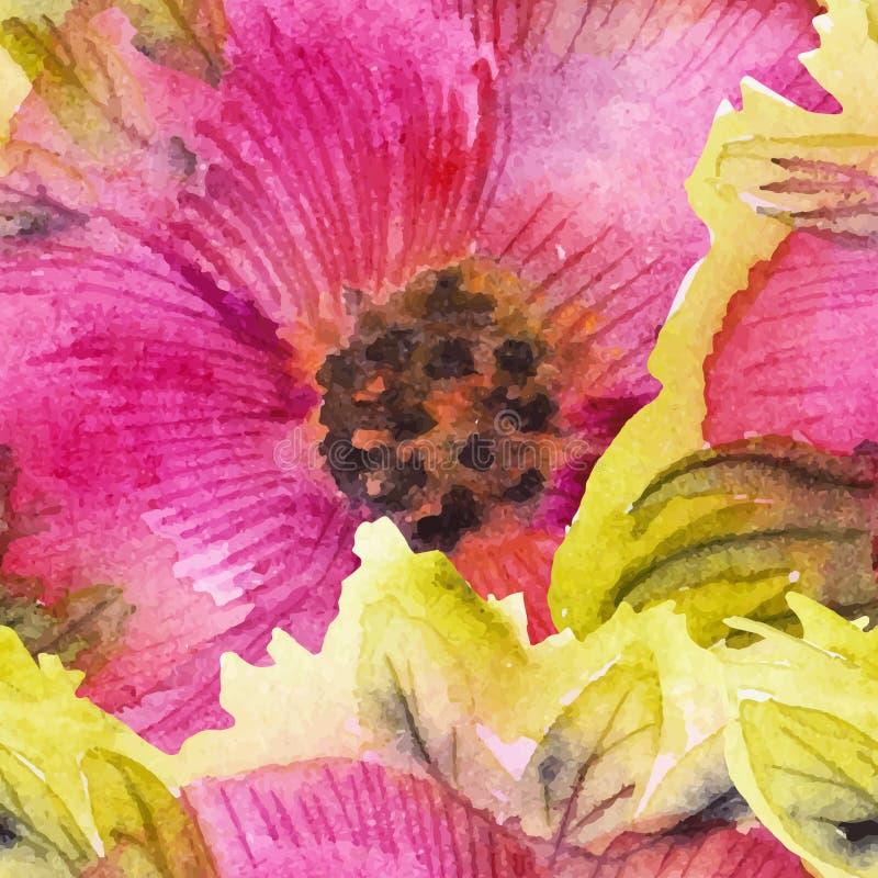 Priorità bassa con i fiori dell'acquerello illustrazione vettoriale