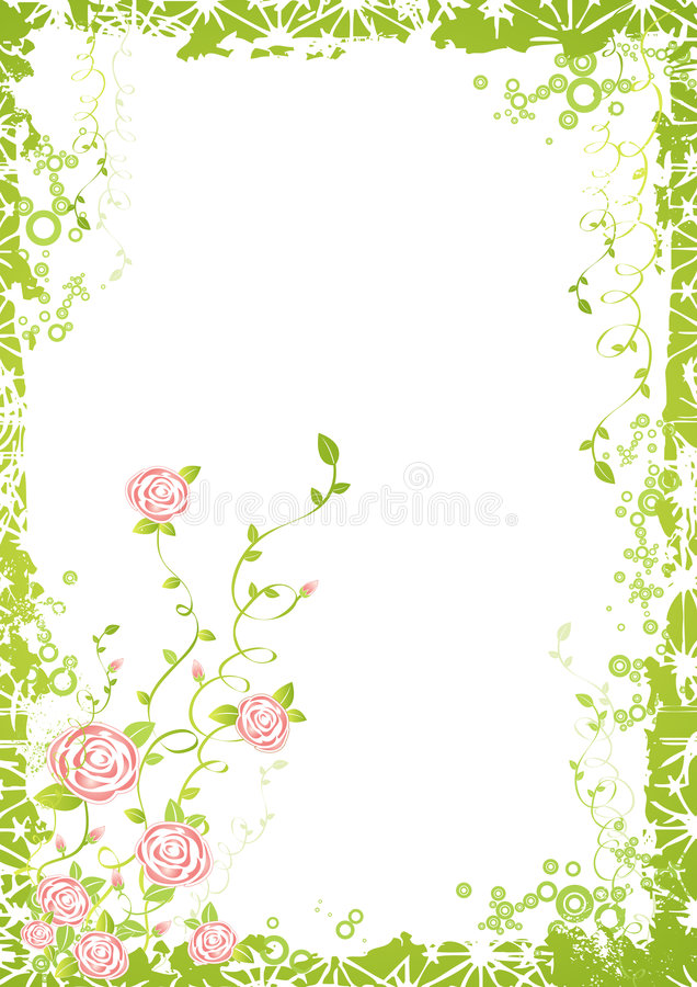 Priorità bassa con i fiori della Rosa illustrazione di stock