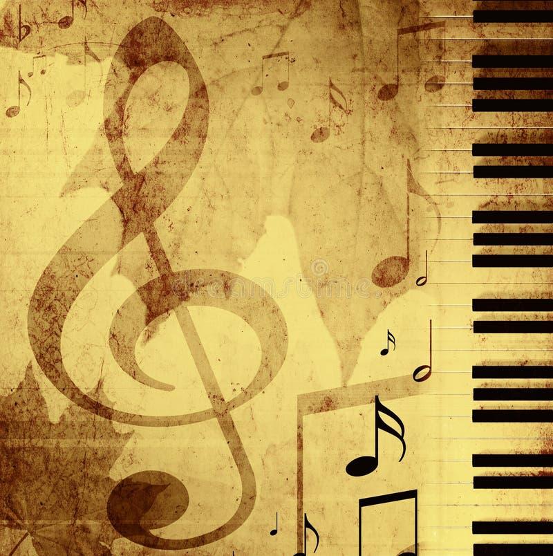 Priorità bassa con i simboli musicali illustrazione di stock