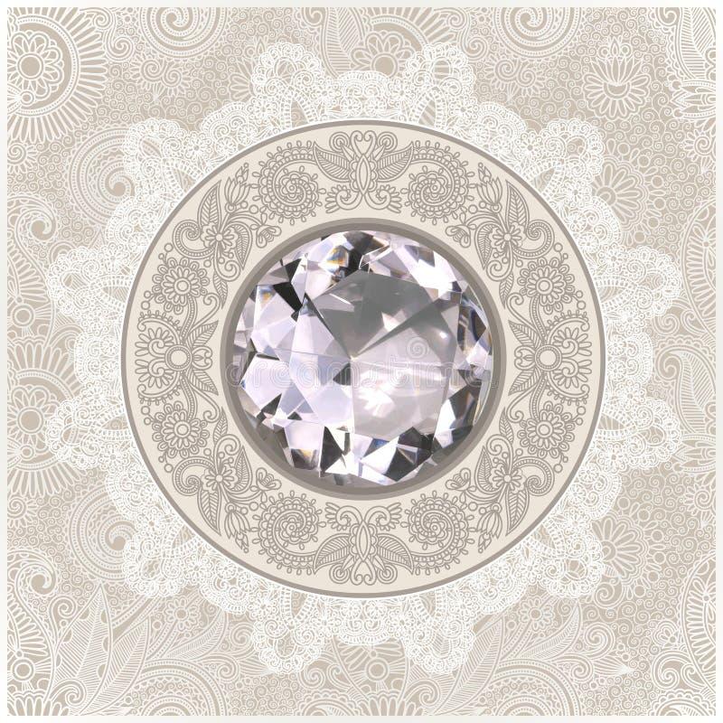 priorità bassa con il gioiello del diamante illustrazione vettoriale