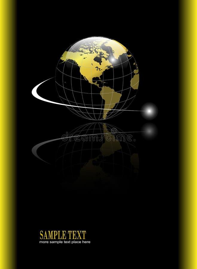 Priorità bassa con il globo dell'oro illustrazione vettoriale