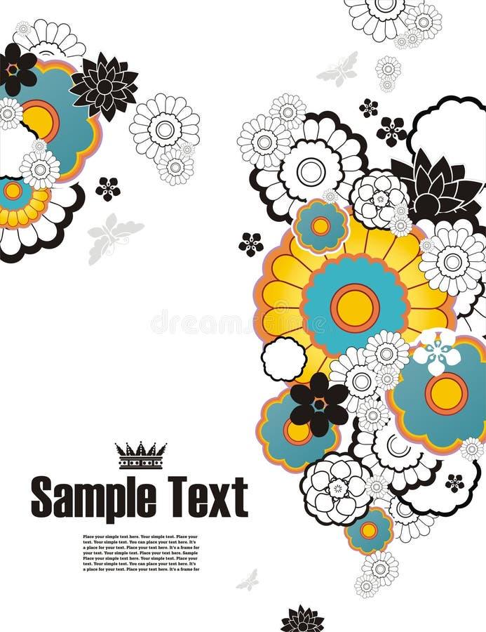 Priorità bassa con l'ornamento floreale royalty illustrazione gratis