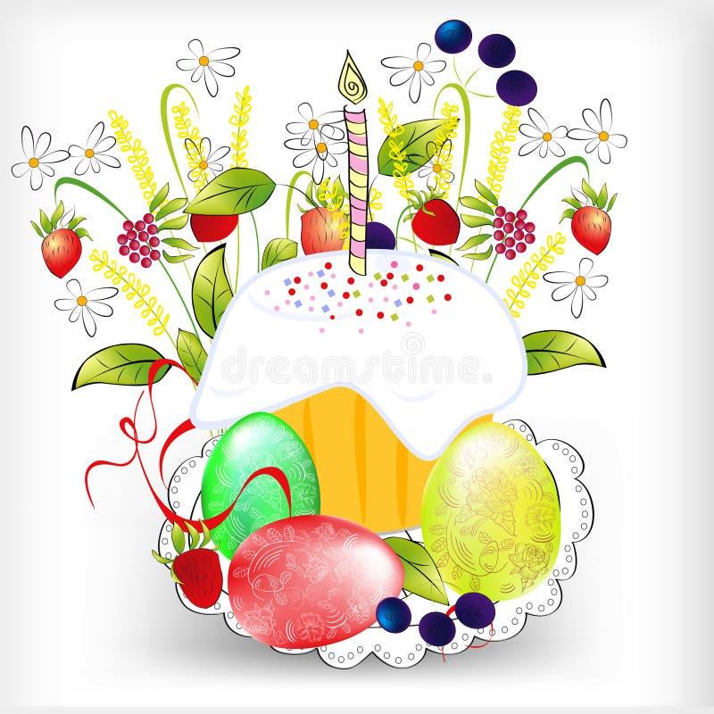 Priorità bassa con l'uovo di Pasqua illustrazione vettoriale