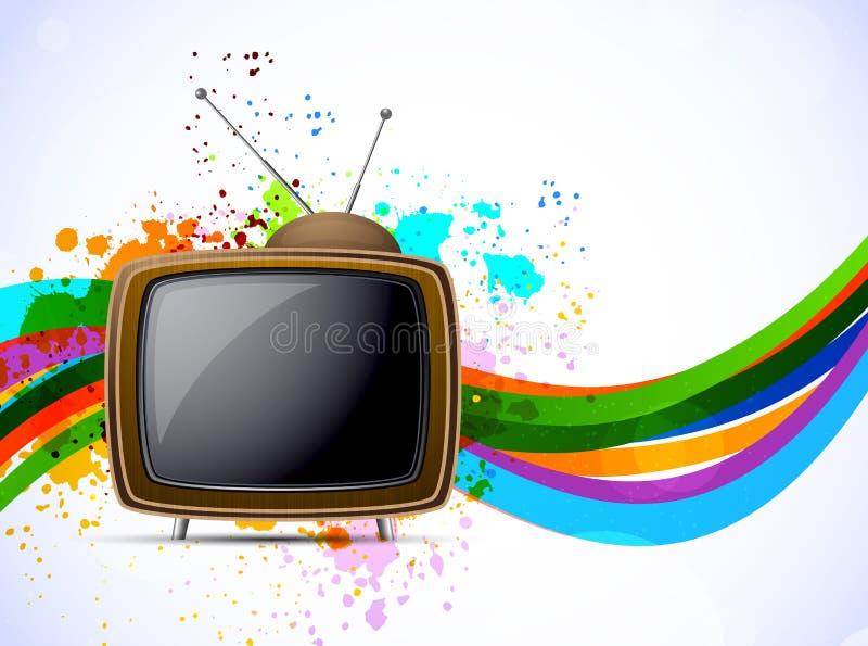 Priorità bassa con la TV illustrazione di stock