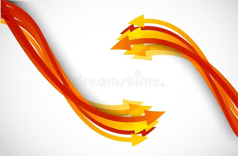 Priorità bassa con le frecce arancioni illustrazione vettoriale