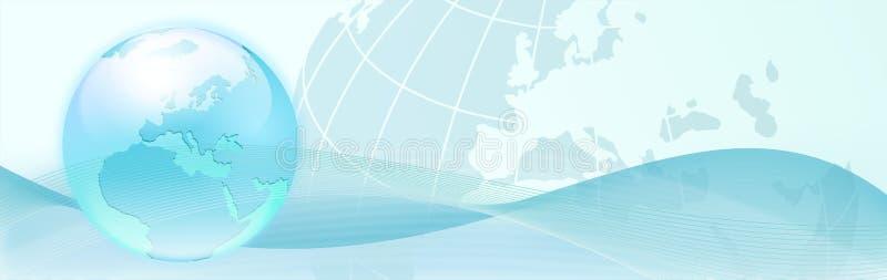 priorità bassa con le onde blu dell'estratto e della terra illustrazione di stock