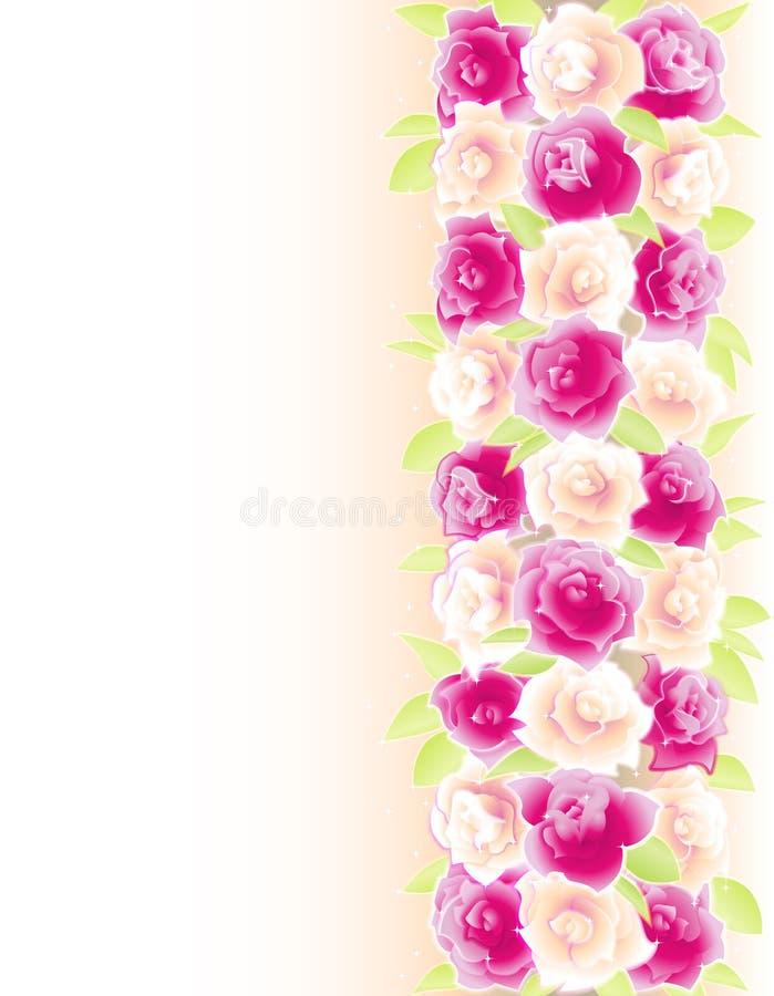 Priorità bassa con le rose illustrazione di stock
