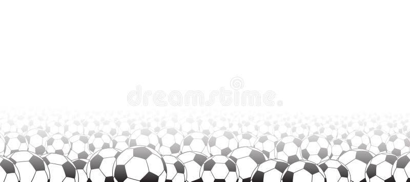 Priorità bassa con le sfere di calcio illustrazione di stock