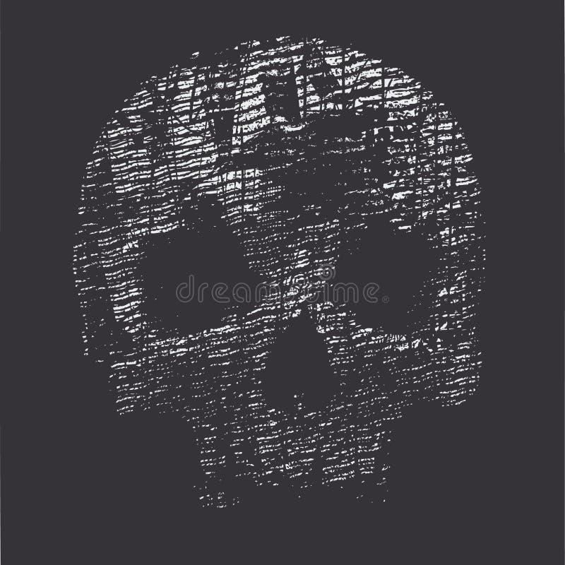Priorità bassa con un cranio illustrazione vettoriale