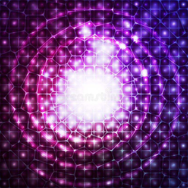 Priorità bassa cosmica astratta illustrazione vettoriale