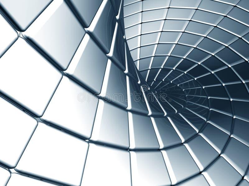 Priorità bassa d'acciaio d'argento astratta con la riflessione illustrazione di stock