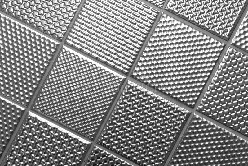 Priorità bassa d'acciaio metallica d'argento fotografia stock