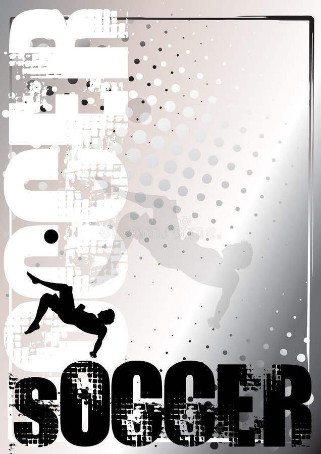 Priorità bassa d'argento 4 del manifesto di calcio illustrazione vettoriale