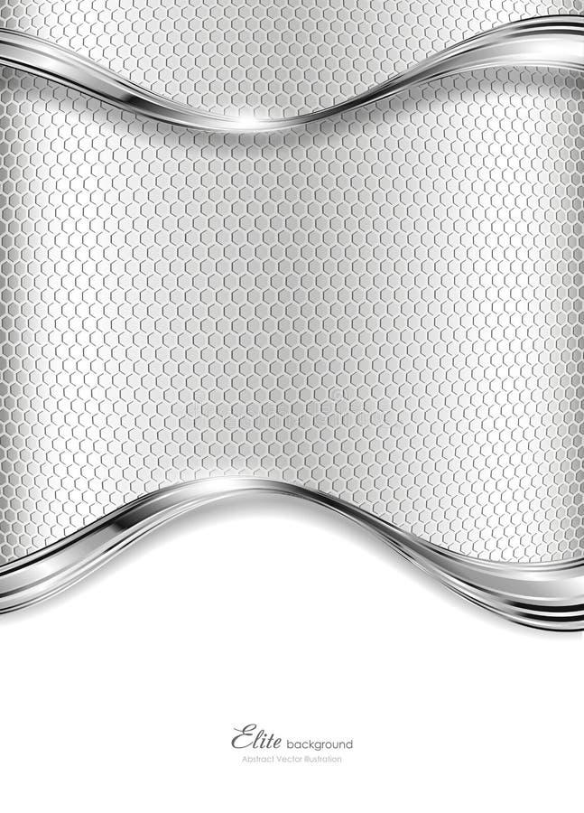 Priorità bassa d'argento astratta di tecnologia illustrazione vettoriale