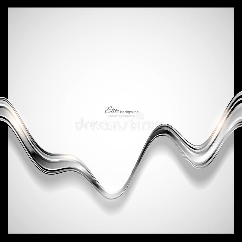 Priorità bassa d'argento astratta di tecnologia royalty illustrazione gratis