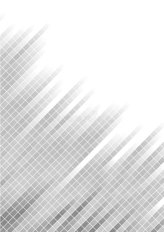 Priorità bassa d'argento astratta di vettore con il quadrato fotografie stock