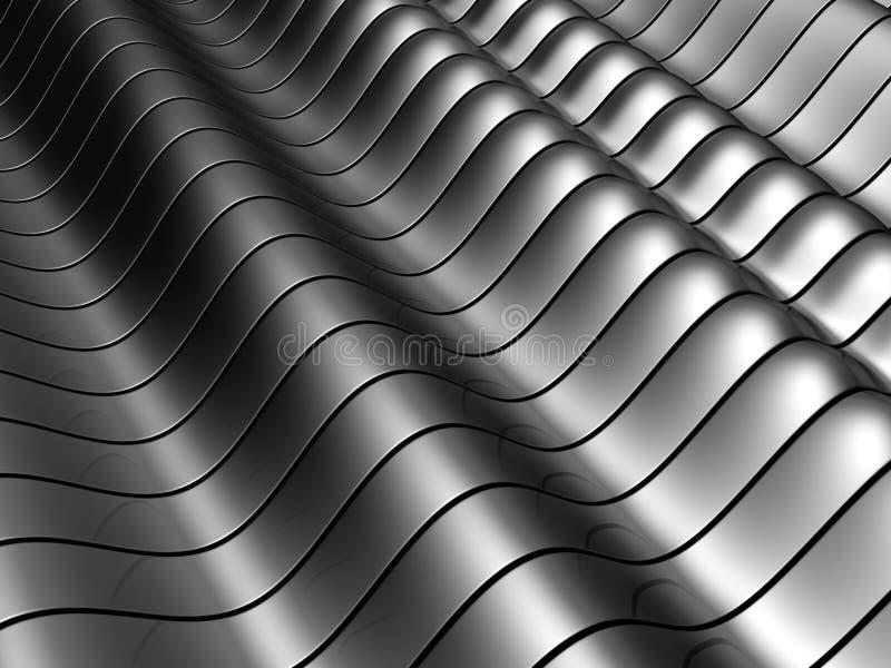 Priorità bassa d'argento d'acciaio astratta del tubo illustrazione vettoriale