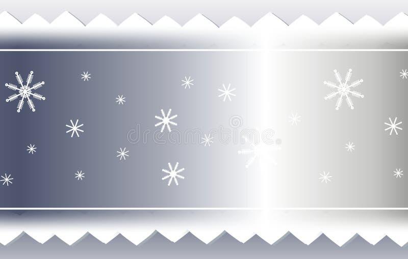 Priorità bassa d'argento del nastro del dente di sega e del fiocco di neve illustrazione vettoriale