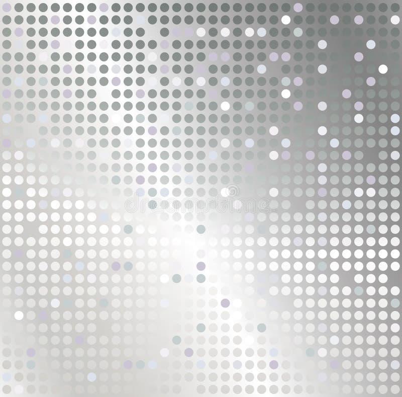 Priorità bassa d'argento dell'estratto del mosaico illustrazione vettoriale