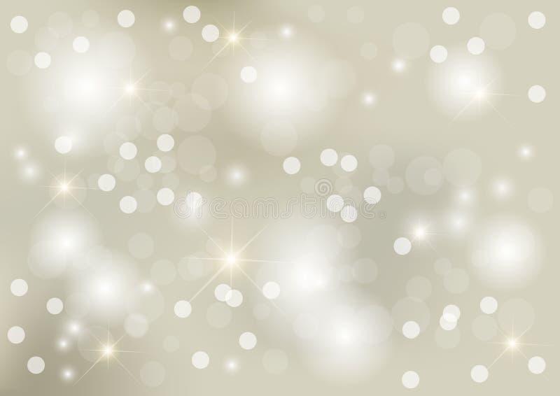 Priorità bassa d'argento luminosa del puntino illustrazione di stock