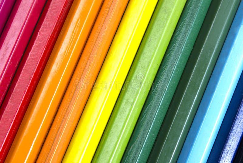 Priorità bassa dalle matite di colore fotografia stock libera da diritti