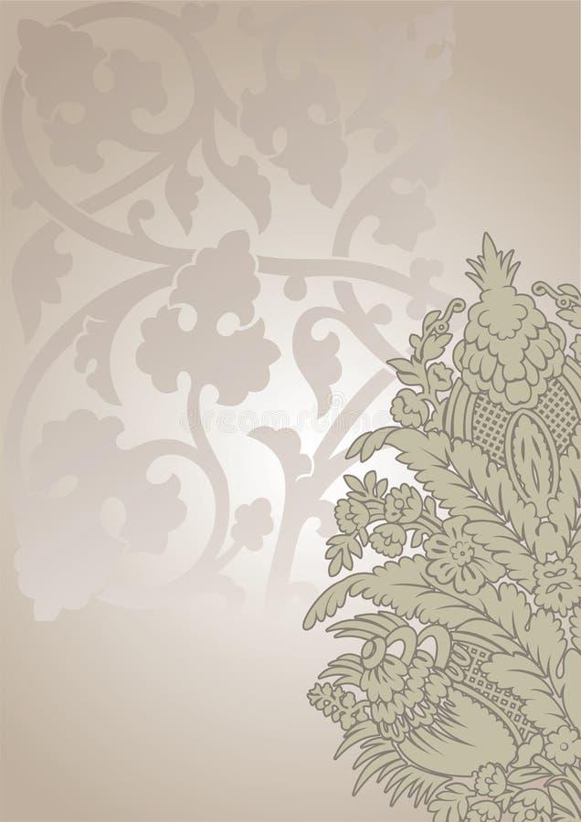 Priorità bassa decorata dell'annata del fiore royalty illustrazione gratis