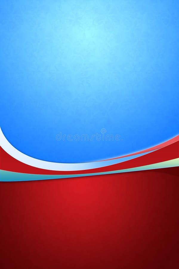 Priorità bassa decorativa in blu & in rosso illustrazione vettoriale