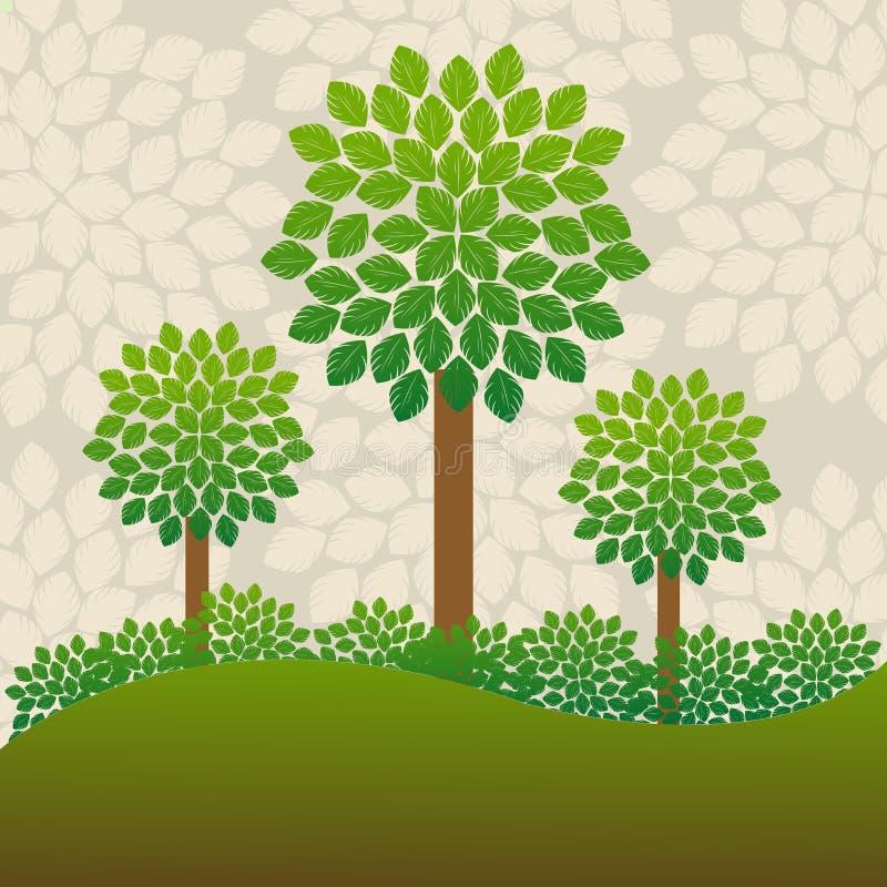 Priorità bassa degli alberi illustrazione vettoriale