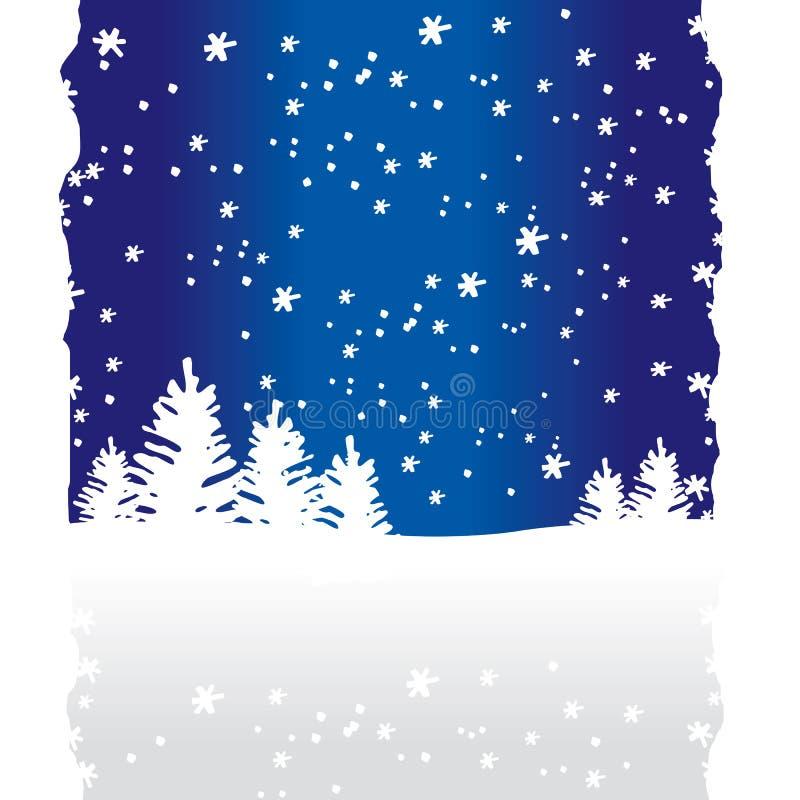 Priorità bassa degli alberi di inverno illustrazione vettoriale