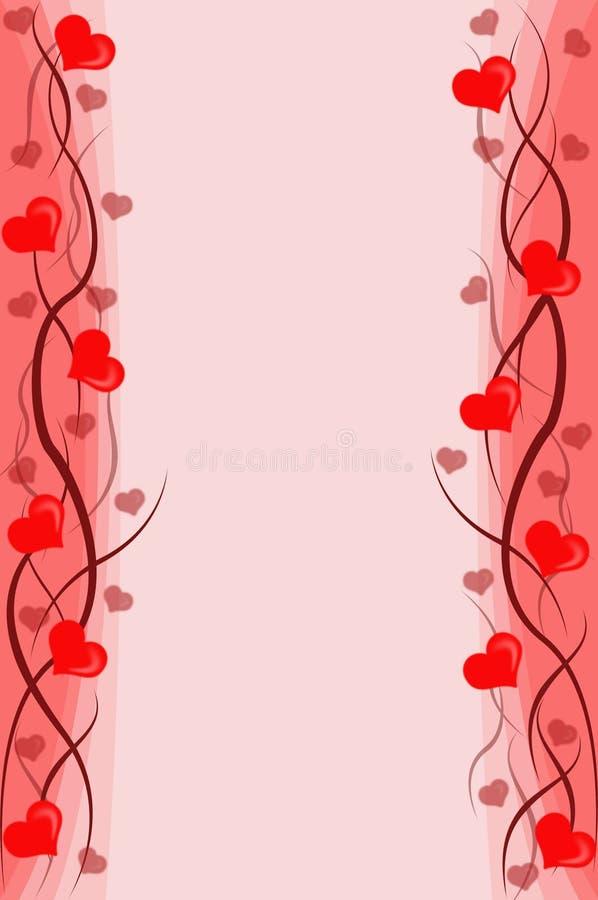 Priorità bassa dei biglietti di S. Valentino illustrazione di stock