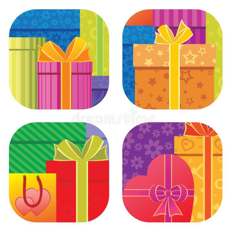 Priorità bassa dei contenitori di regalo illustrazione vettoriale