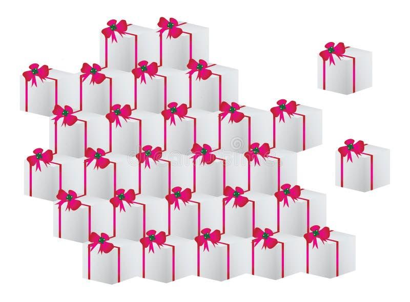 priorità bassa dei contenitori di regalo illustrazione di stock
