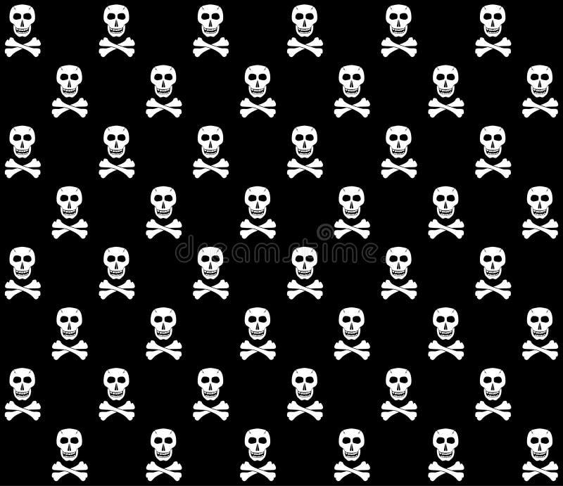 Priorità bassa dei crani di Black&White. illustrazione vettoriale