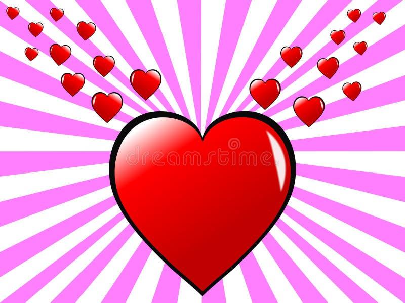Priorità bassa dei cuori dei biglietti di S. Valentino royalty illustrazione gratis