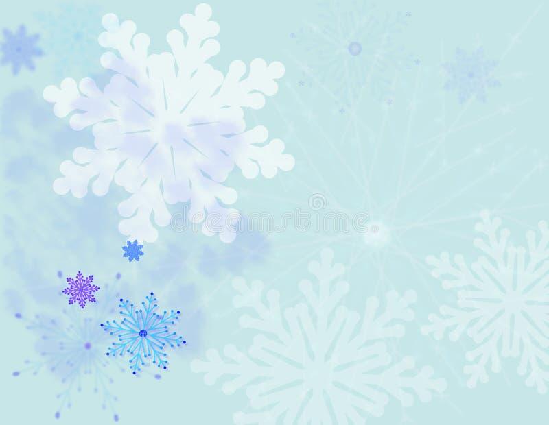 Priorità bassa dei fiocchi di neve illustrazione vettoriale