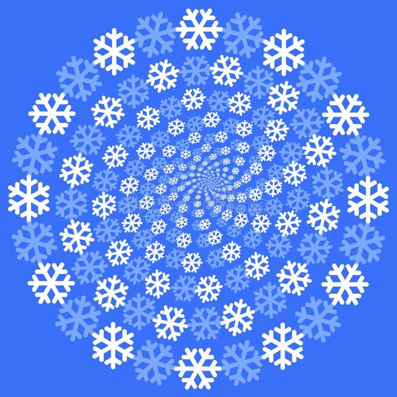 Priorità bassa dei fiocchi di neve. royalty illustrazione gratis