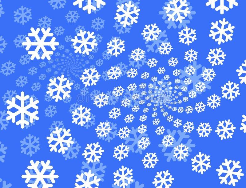 Priorità bassa dei fiocchi di neve. illustrazione di stock
