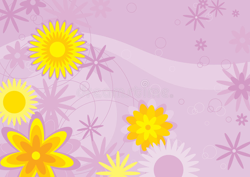 Priorità bassa dei fiori (illustrati illustrazione di stock