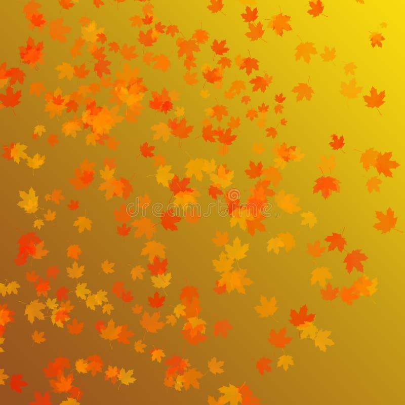 Priorità bassa dei fogli di autunno illustrazione di stock