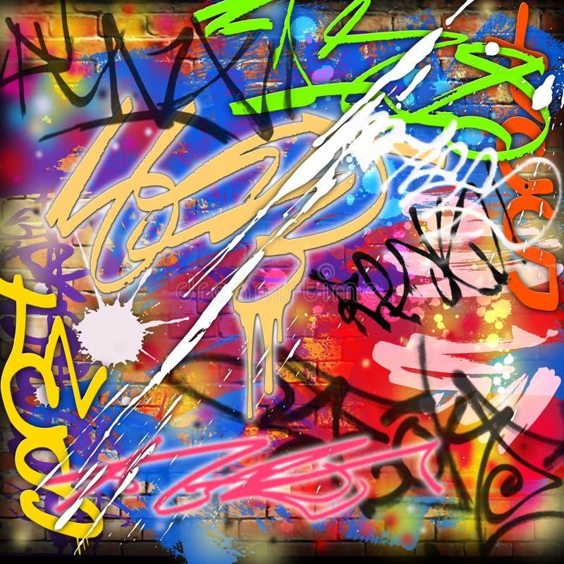 Priorità bassa dei graffiti illustrazione di stock
