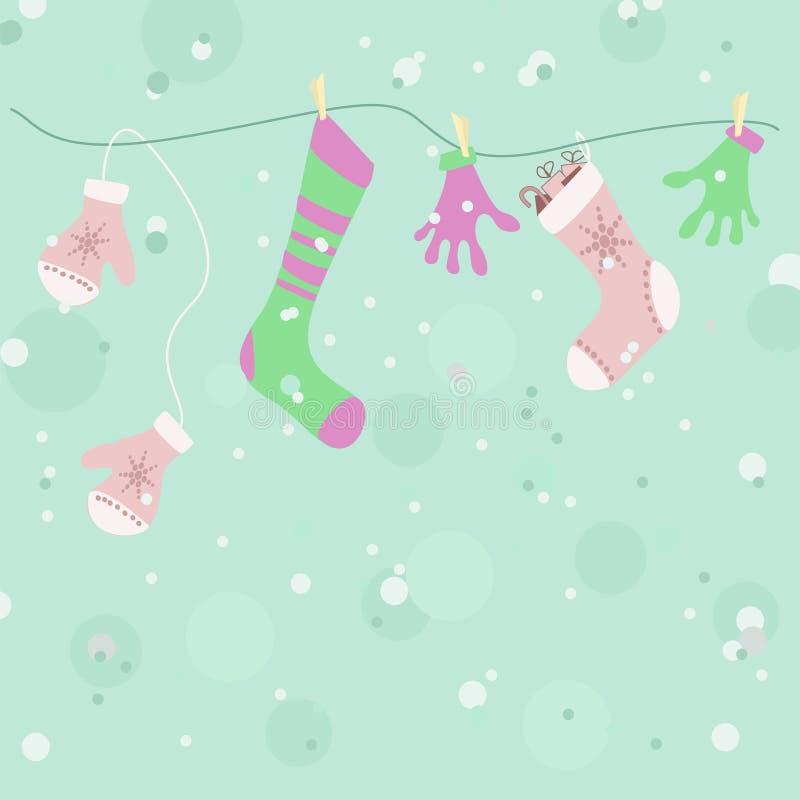 Priorità bassa dei guanti & dei calzini royalty illustrazione gratis