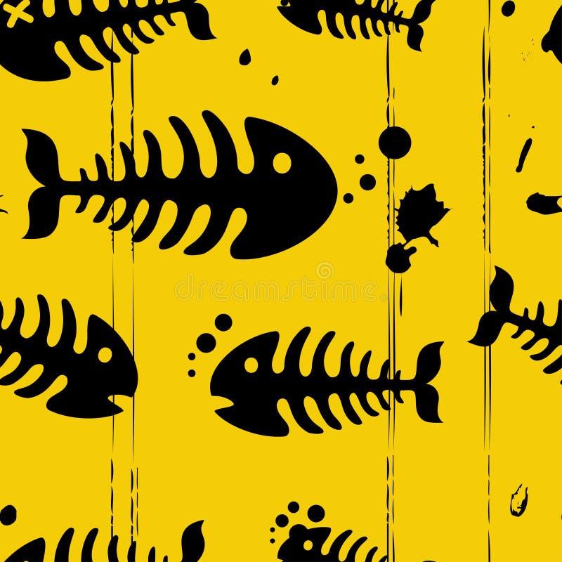 Priorità bassa dei pesci di Grunge illustrazione di stock