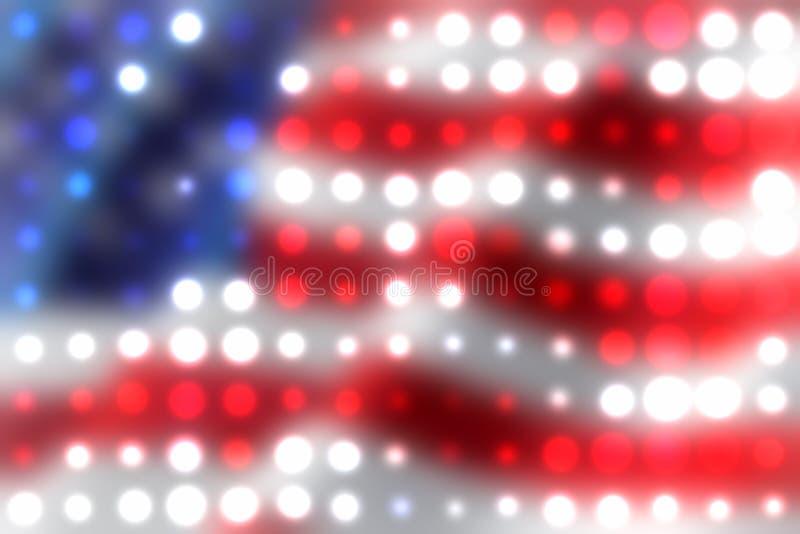 Priorità bassa dei punti luminosi della bandiera americana illustrazione di stock