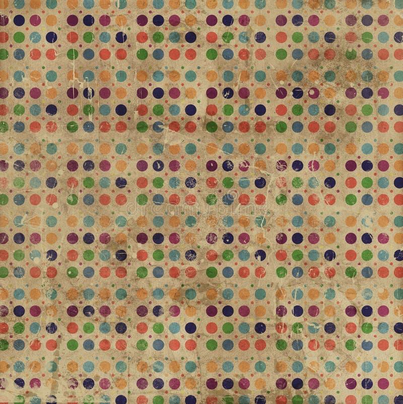 Priorità bassa dei puntini di Polka di Grunge illustrazione vettoriale