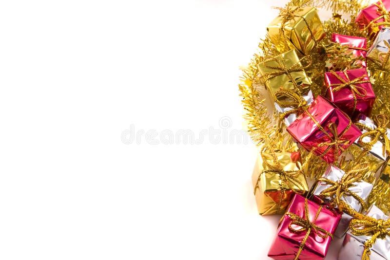 Priorità bassa dei regali di Natale fotografia stock